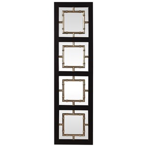 Uttermost Mirrors Tadon Black Rectangle Mirror