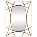 Uttermost Mirrors Abreona Metallic Gold Mirror - Item Number: 09438