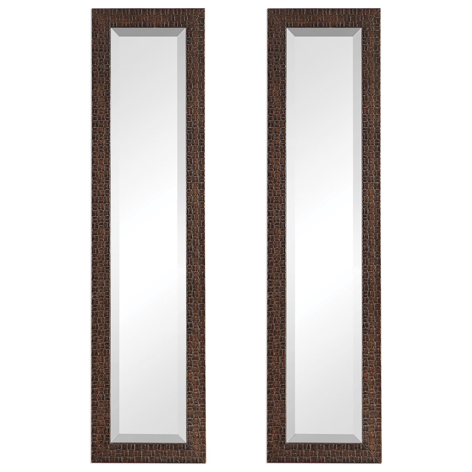 Ailani Burnished Brown Mirror, S/2
