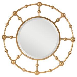 Selim Round Gold Mirror