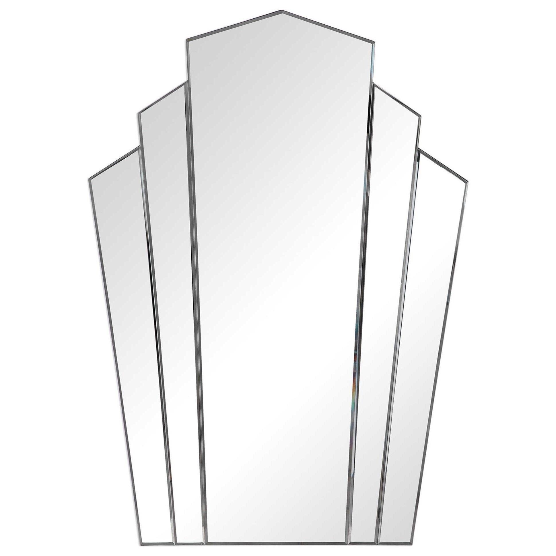 Inez Art Deco Frameless Mirror