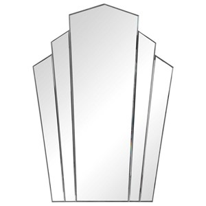 Inez Art Deco Frameless Mirror