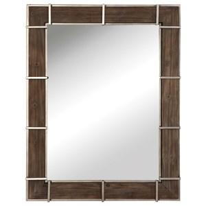Wade Wooden Industrial Mirror