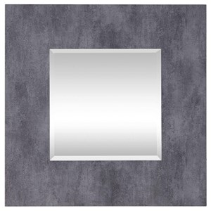 Rohan Gray Square Mirror