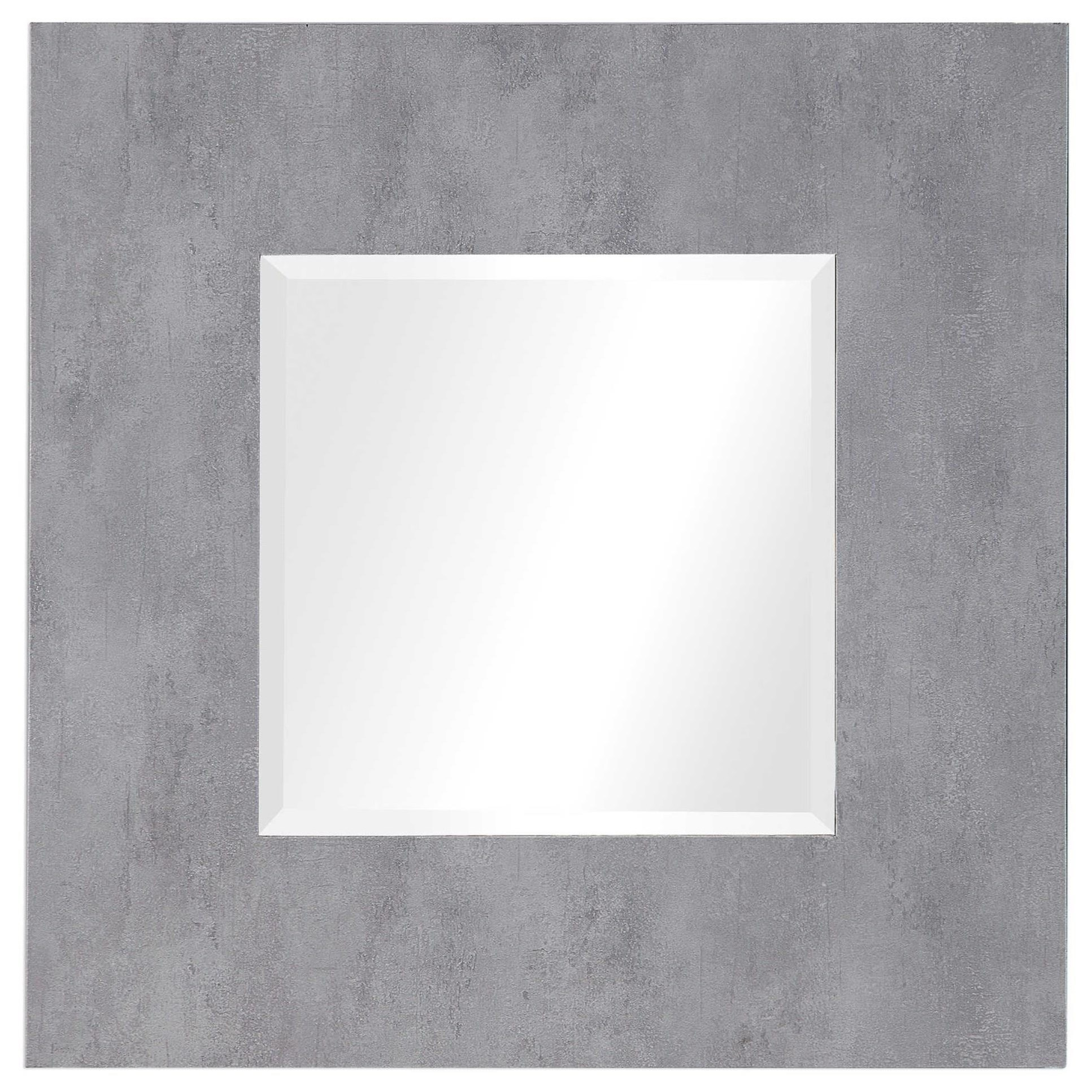 Rohan Light Gray Square Mirror