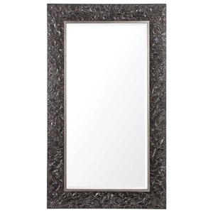 Axel Textured Steel Large Mirror