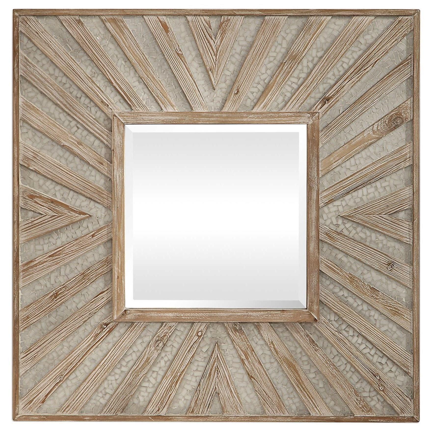 Gideon Wood & Ivory Square Mirror