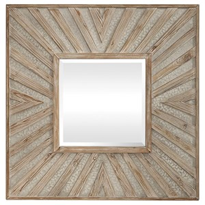 Gideon Wood & Ivory Square Mirror