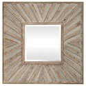 Uttermost Mirrors Gideon Wood & Ivory Square Mirror - Item Number: 09477