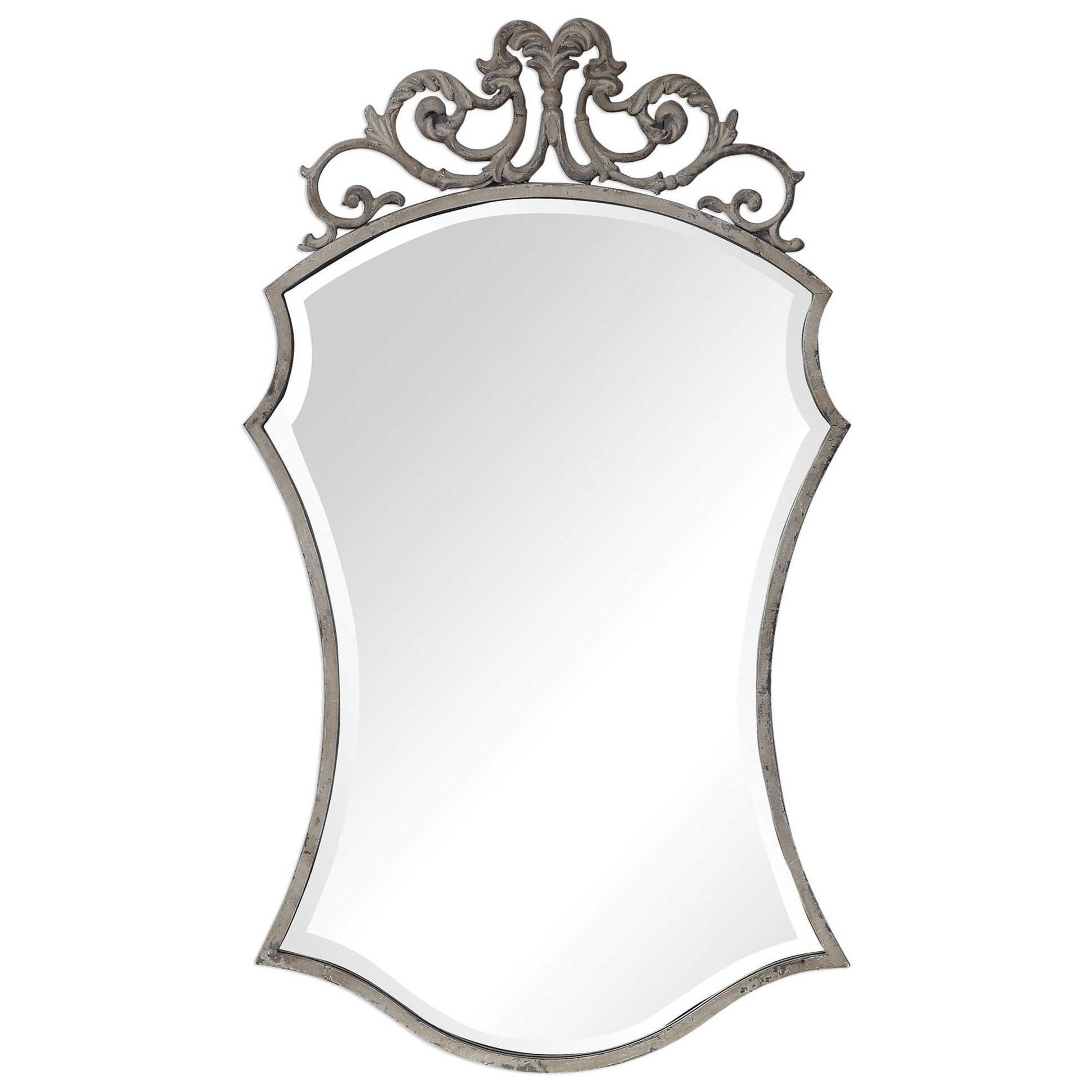 Sadie Distressed Scroll Mirror
