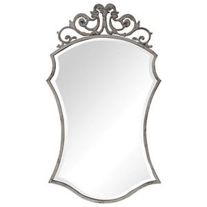 Sadie Distressed Scroll Mirror
