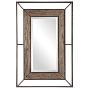 Ward Open Framed Wood Mirror