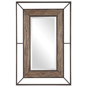 Ward Open Framed Wood Mirror