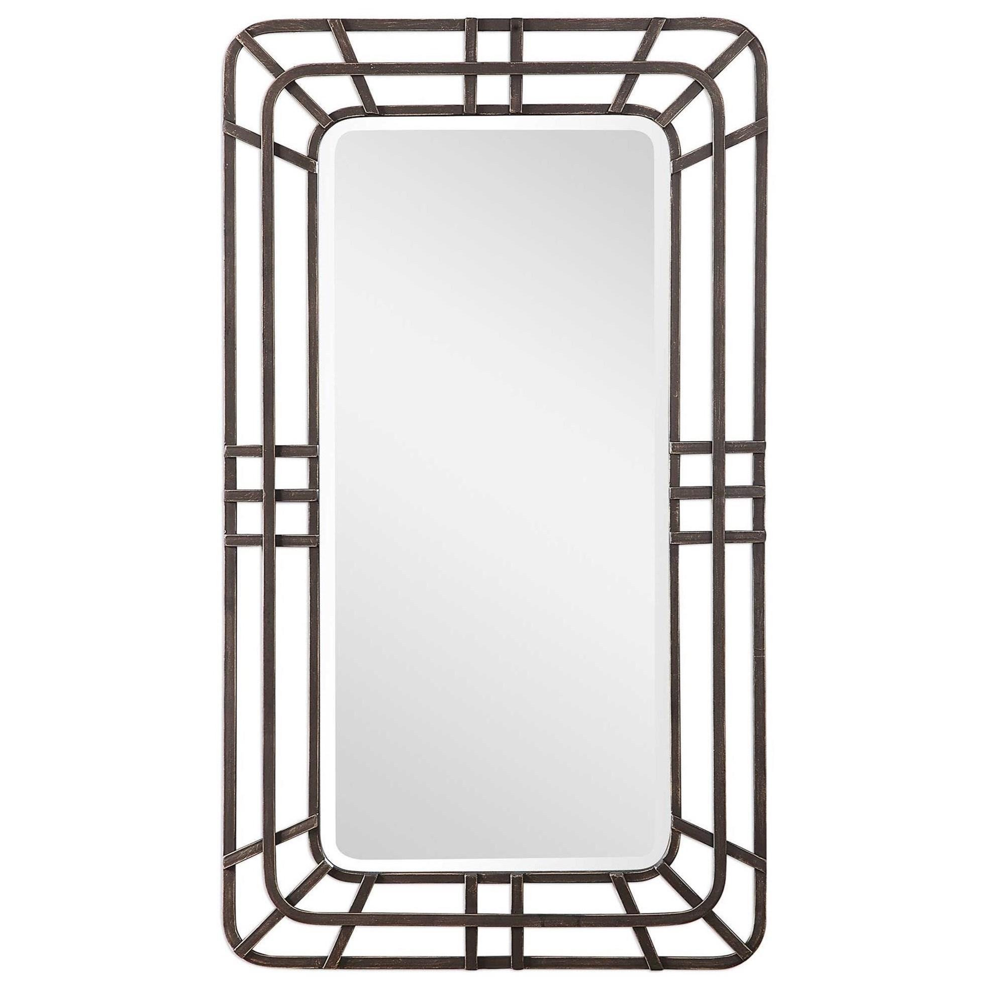 Alston Open Framed Iron Mirror
