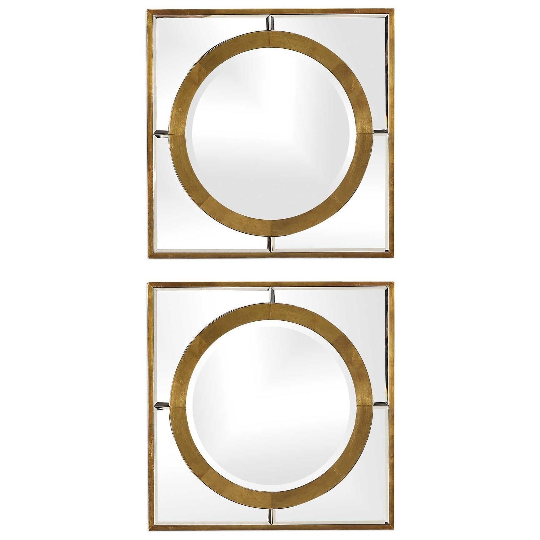 Gaza Gold Square Mirrors (Set of 2)