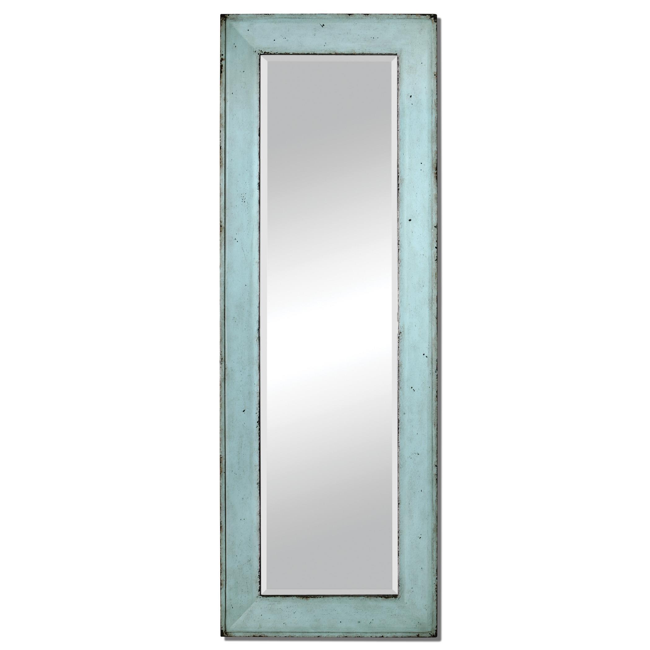 Chasity Light Blue Leaner Mirror