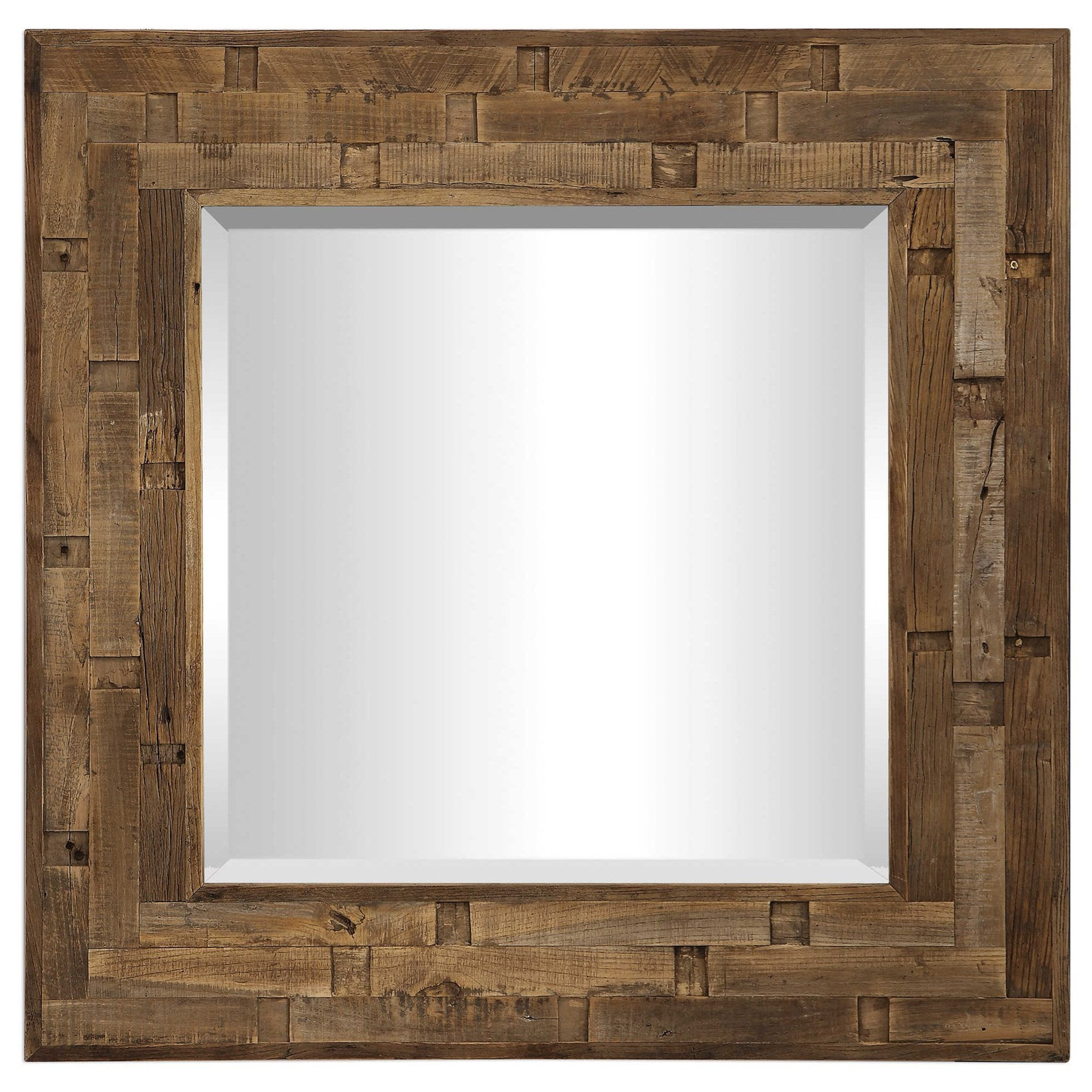 Emelin Wood Square Mirror