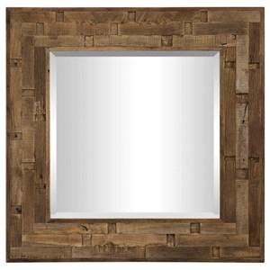 Emelin Wood Square Mirror
