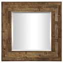 Uttermost Mirrors Emelin Wood Square Mirror - Item Number: 09536