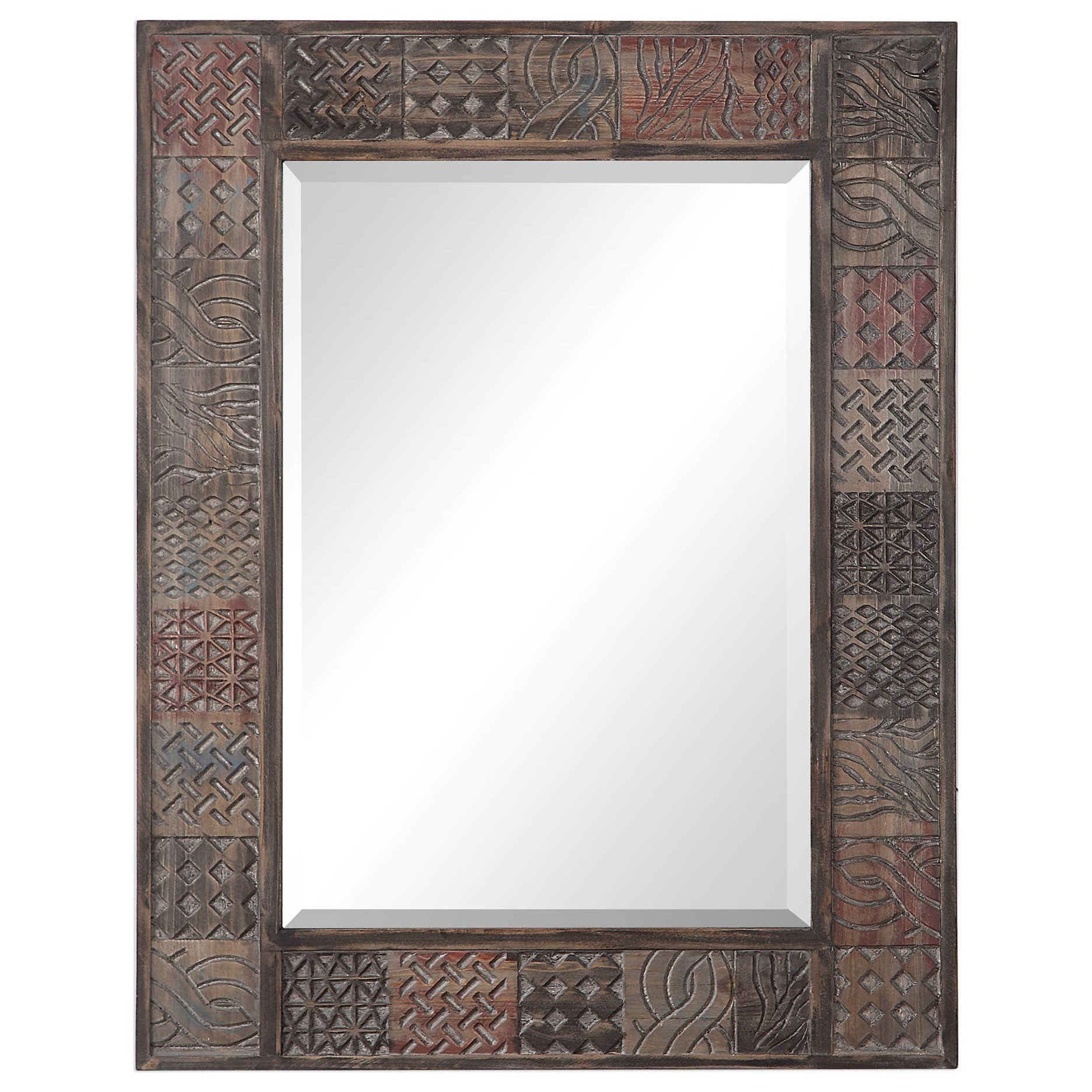 Kele Carved Wood Mirror
