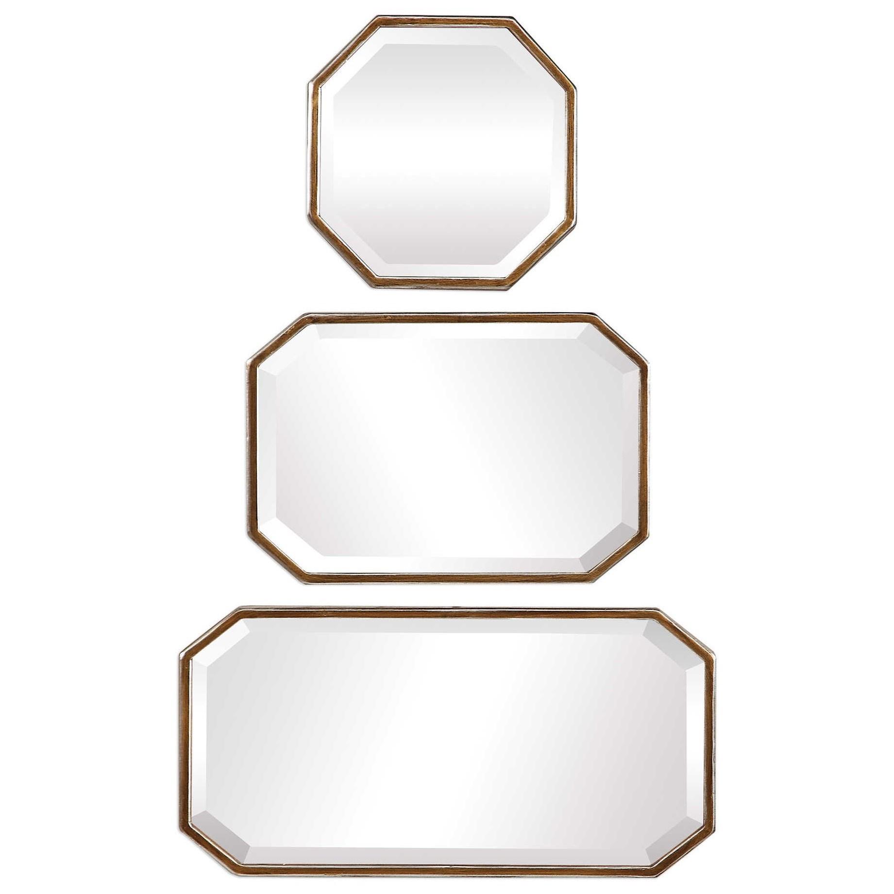 Trois Gold Mirrors (Set of 3)