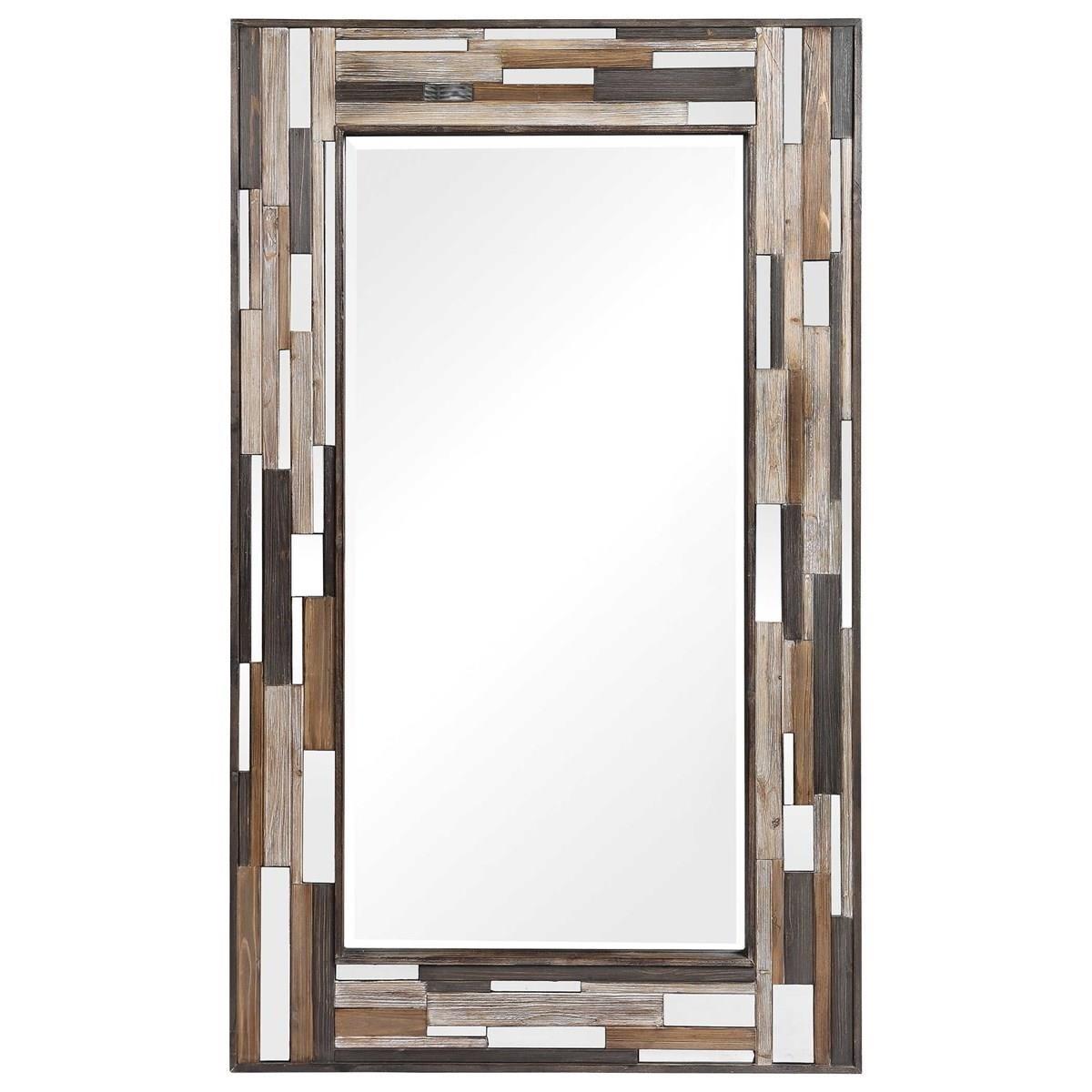 Zevon Wooden Mirror