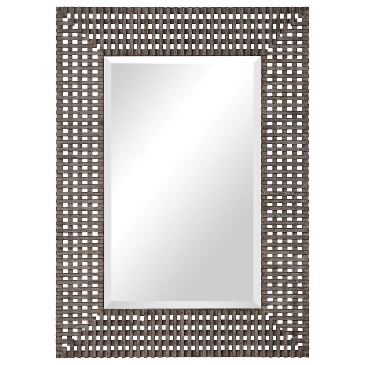Tarquin Crosshatched Mirror