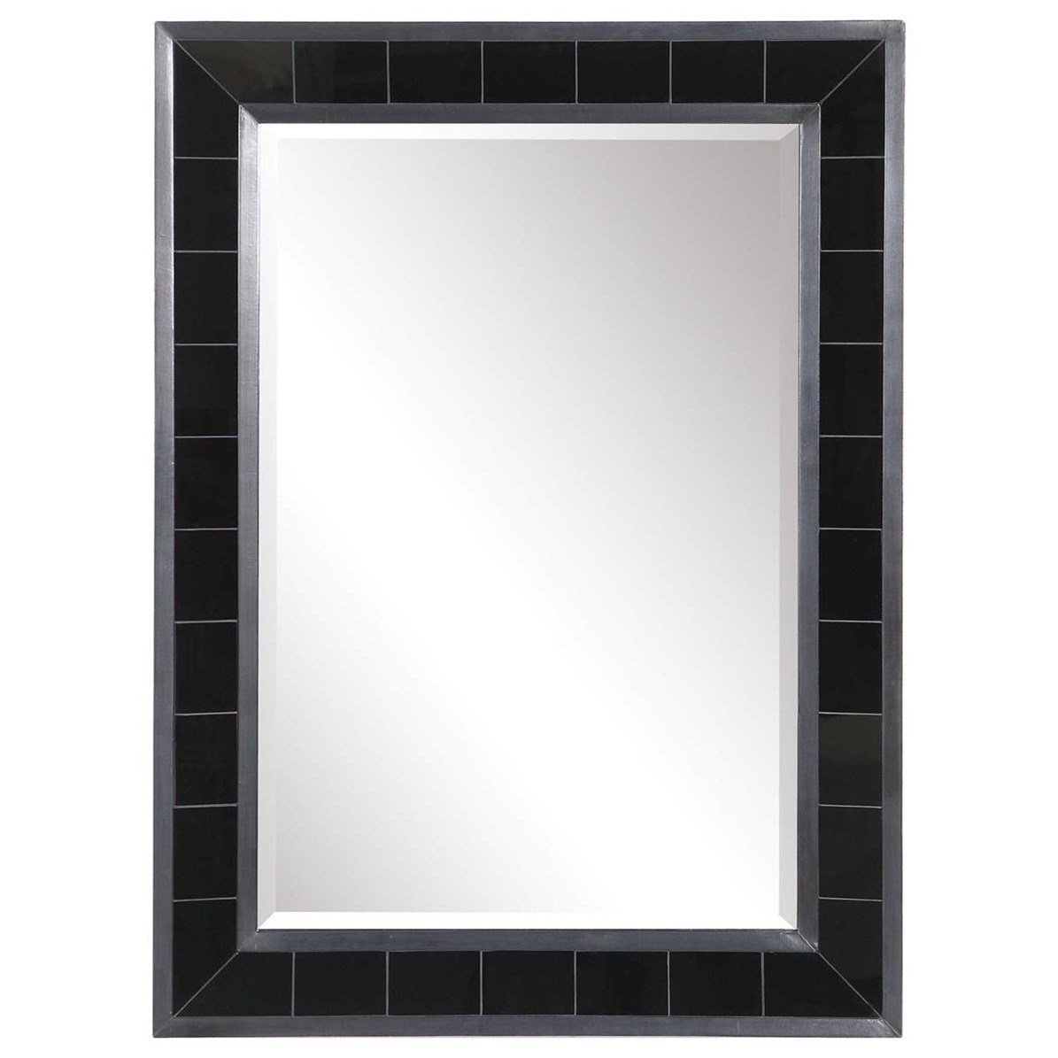 Lonara Black Tile Mirror