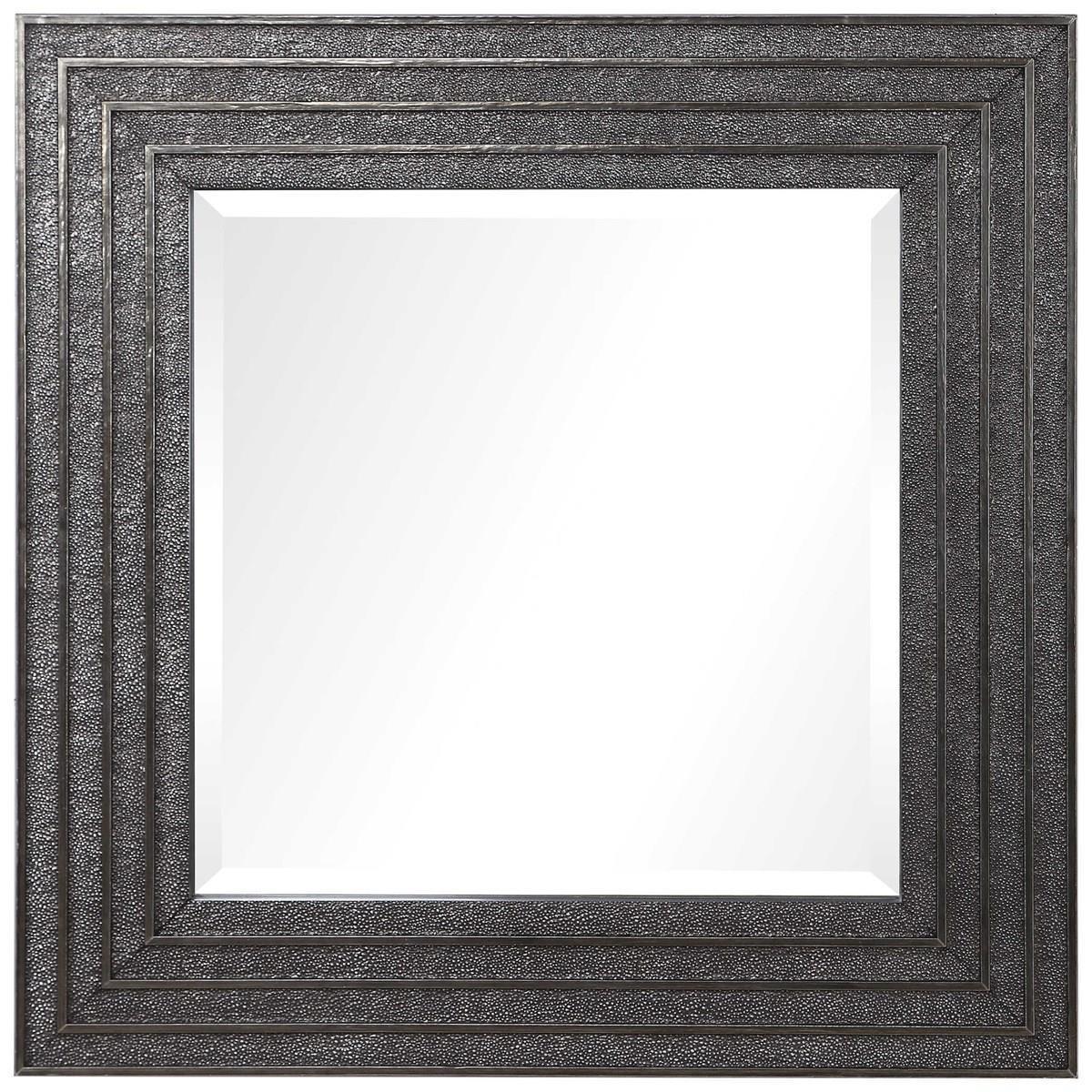 Sondra Silver Square Mirror