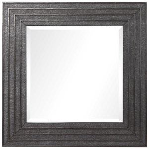 Sondra Silver Square Mirror