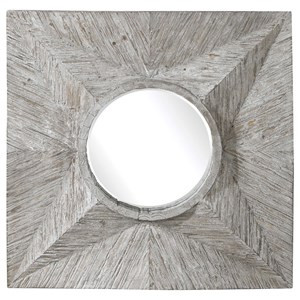 Huntington Light Gray Square Mirror