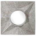 Uttermost Mirrors Huntington Light Gray Square Mirror - Item Number: 09574