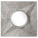 Uttermost Mirrors Huntington Light Gray Square Mirror - Item Number: 09574