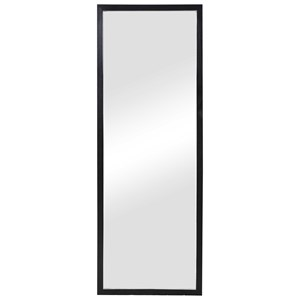 Avri Oversized Dark Wood Mirror