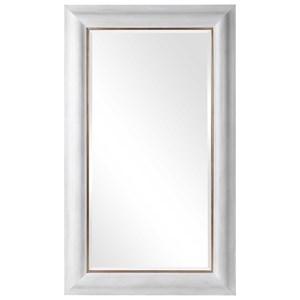 Piper Large White Mirror