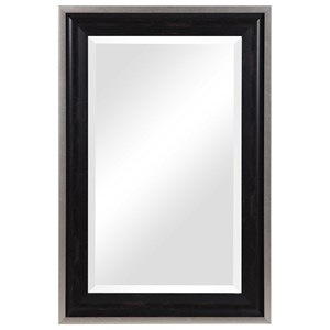 Groveland Rustic Black Mirror