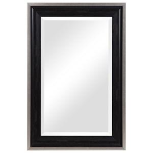 Groveland Rustic Black Mirror