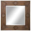 Uttermost Mirrors Traveler Geometric Square Mirror - Item Number: 09682