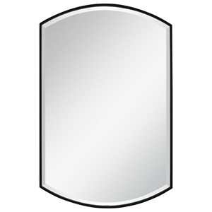 Shield Shaped Iron Mirror