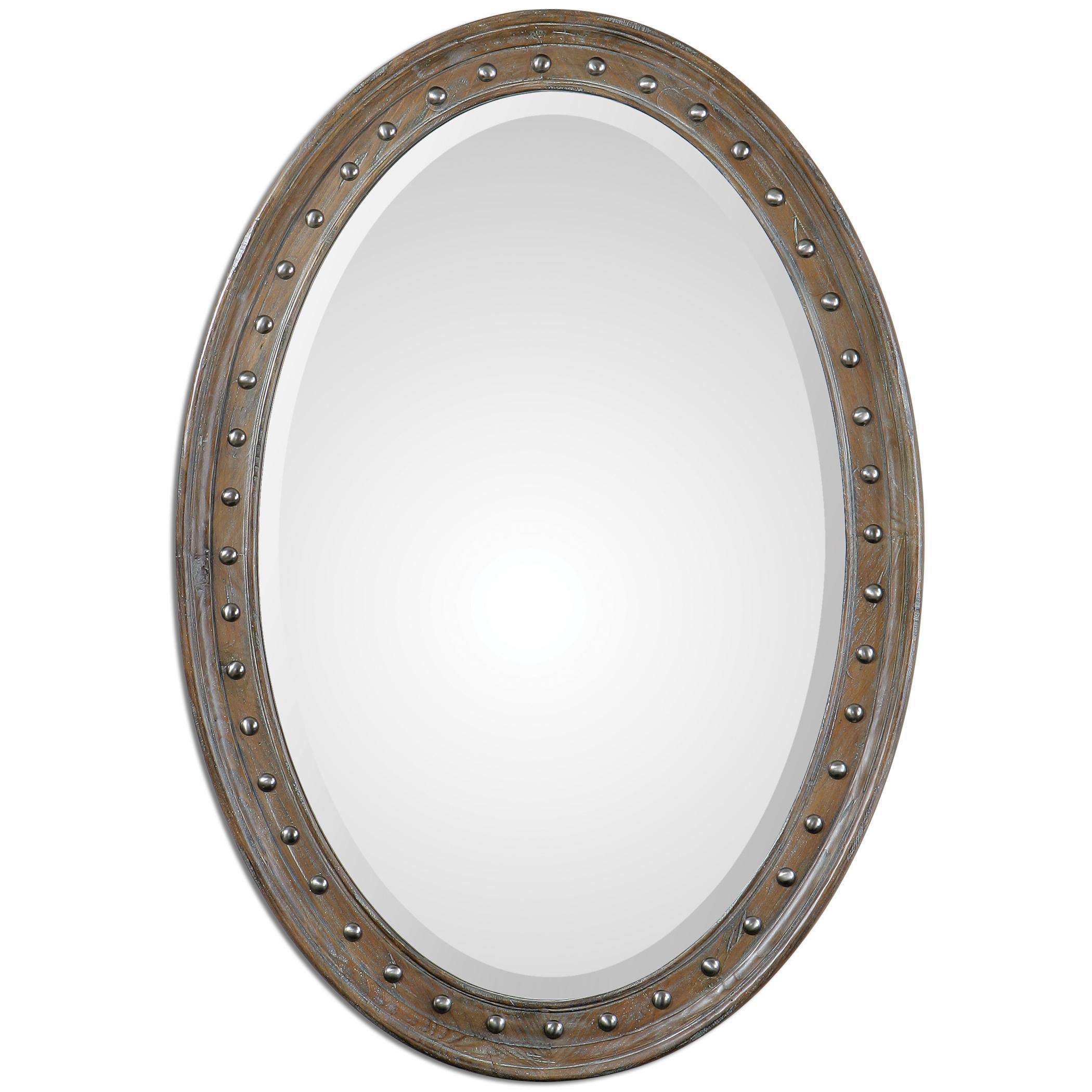 Uttermost Mirrors Sylvana Oval Mirror - Item Number: 11917