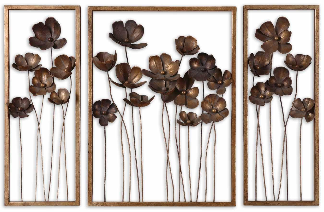 Uttermost Mirrors Metal Tulips Set of 3 - Item Number: 12785