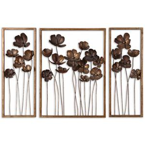 Uttermost Mirrors Metal Tulips Set of 3
