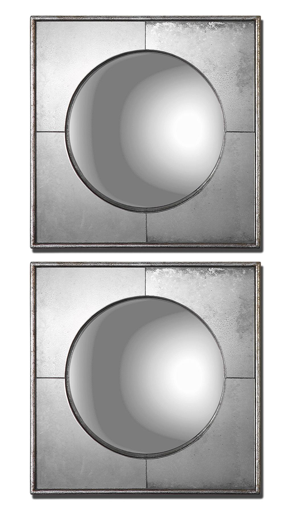 Uttermost Mirrors Savio Squares Set of 2 - Item Number: 12829