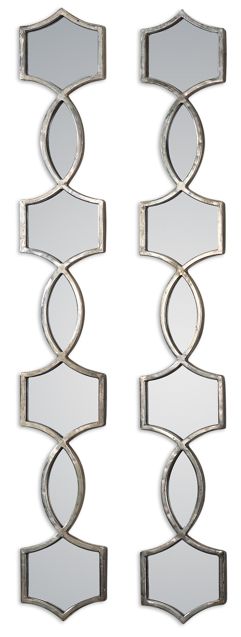 Uttermost Mirrors Vizela Metal Mirrors Set of 2 - Item Number: 12856