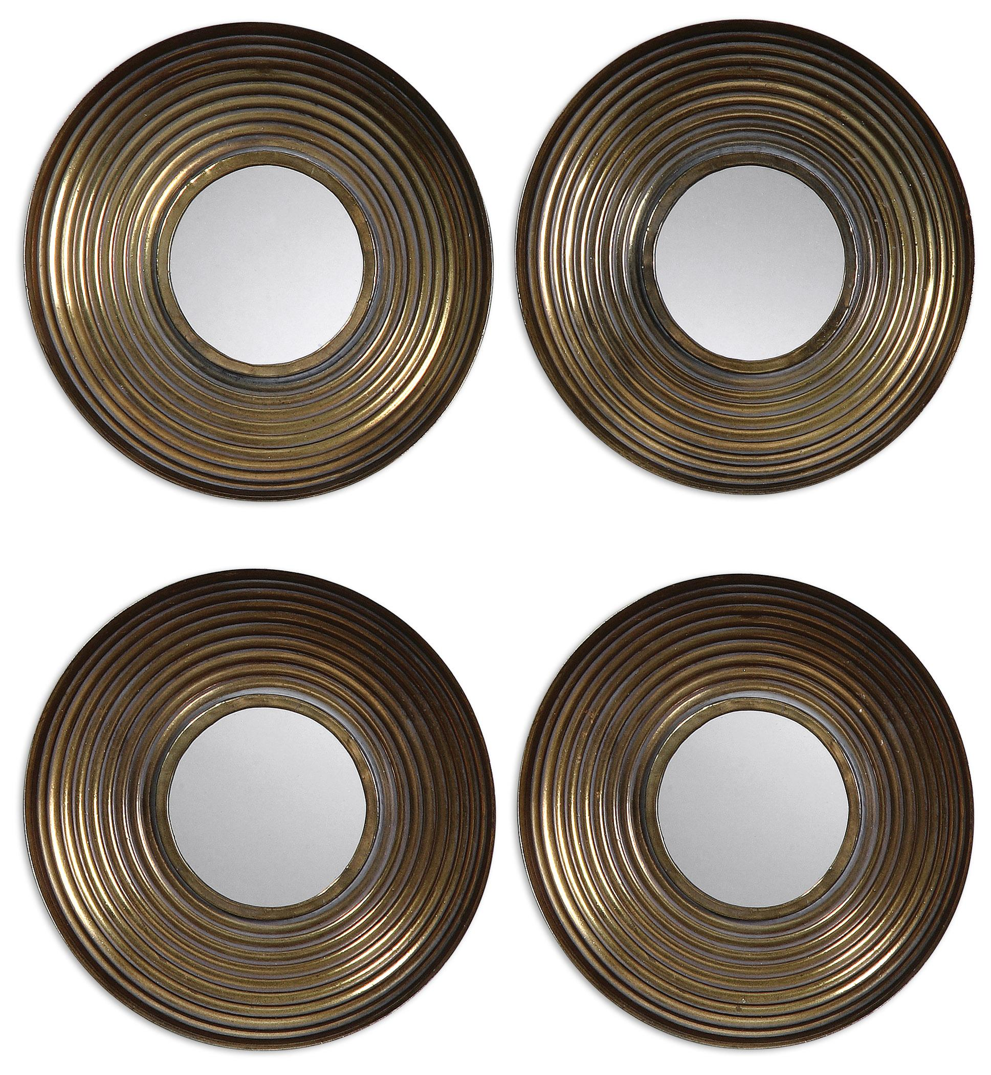 Uttermost Mirrors Tondela Round Mirrors Set of 4 - Item Number: 12858
