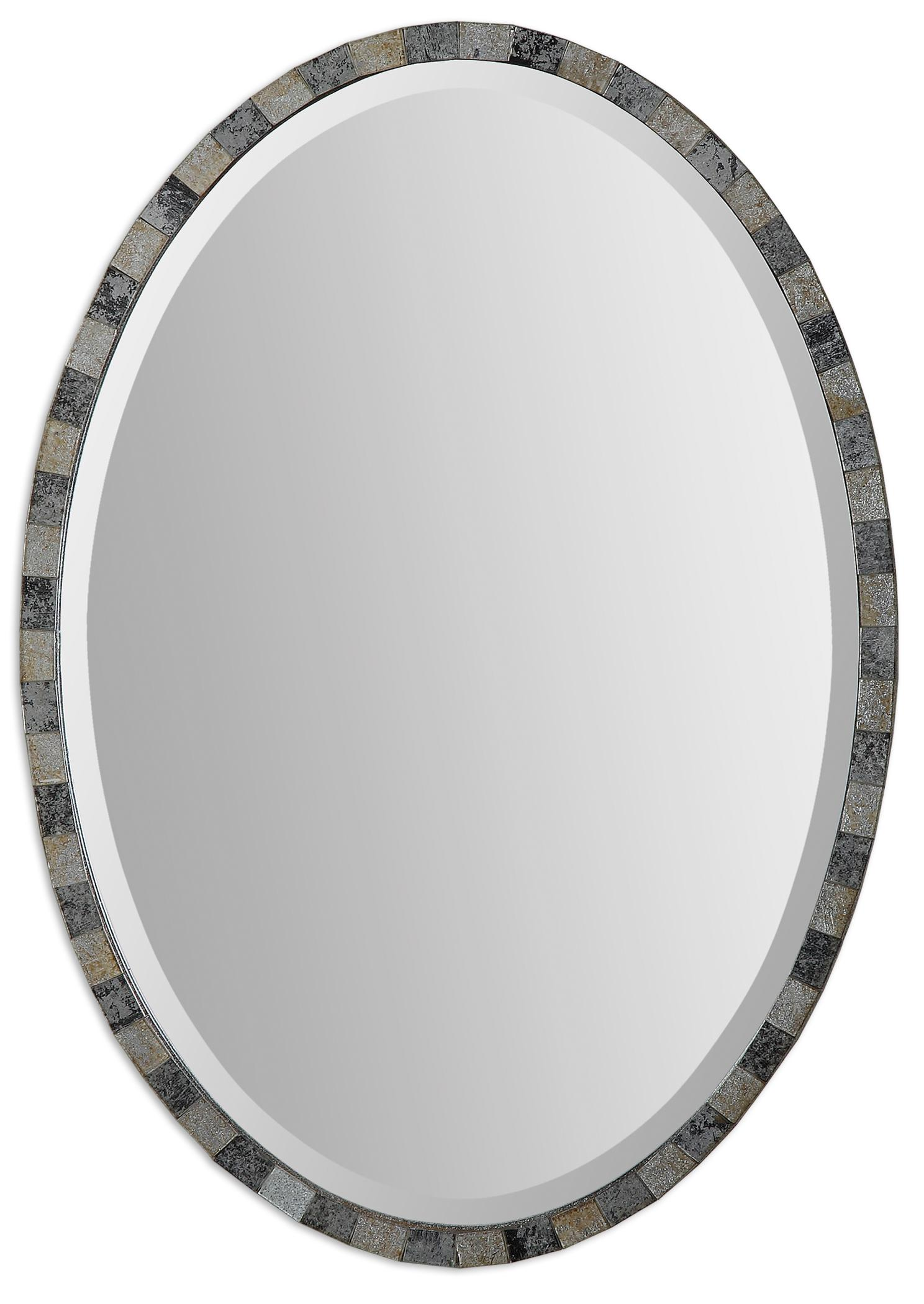Uttermost Mirrors Paredes Oval Mosaic Mirror - Item Number: 12859
