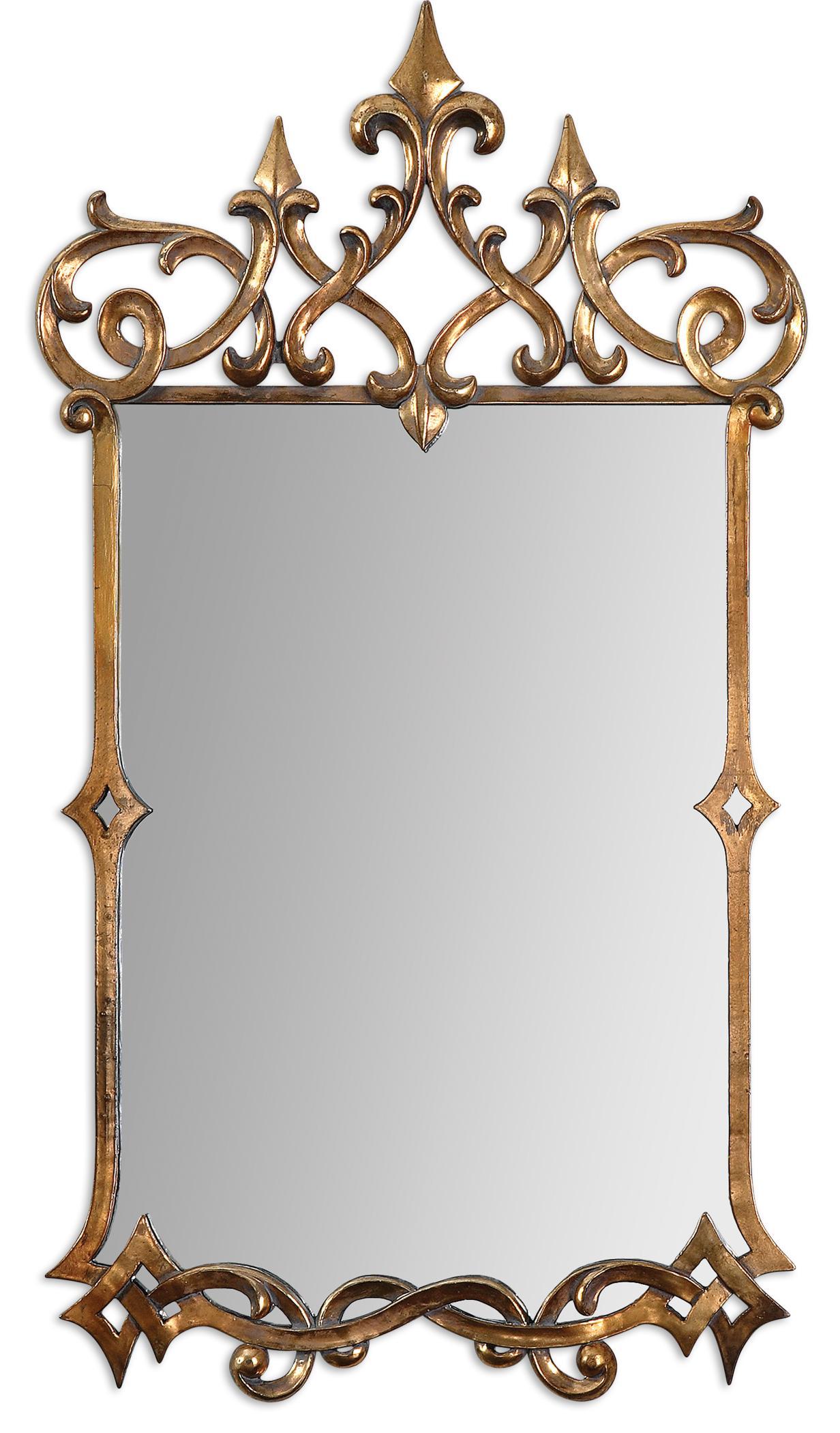Uttermost Mirrors Mirandela Gold Mirror - Item Number: 12861