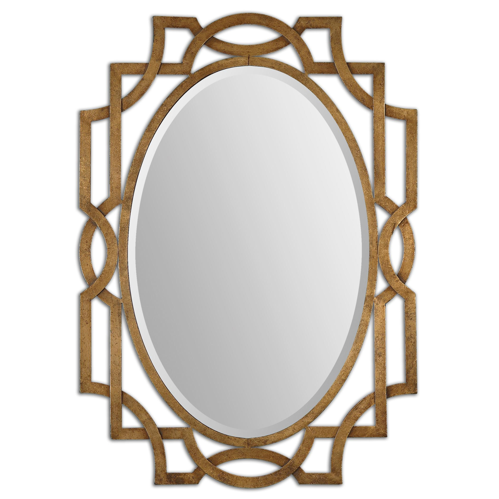 Uttermost Mirrors Margutta Gold Oval Mirror - Item Number: 12869