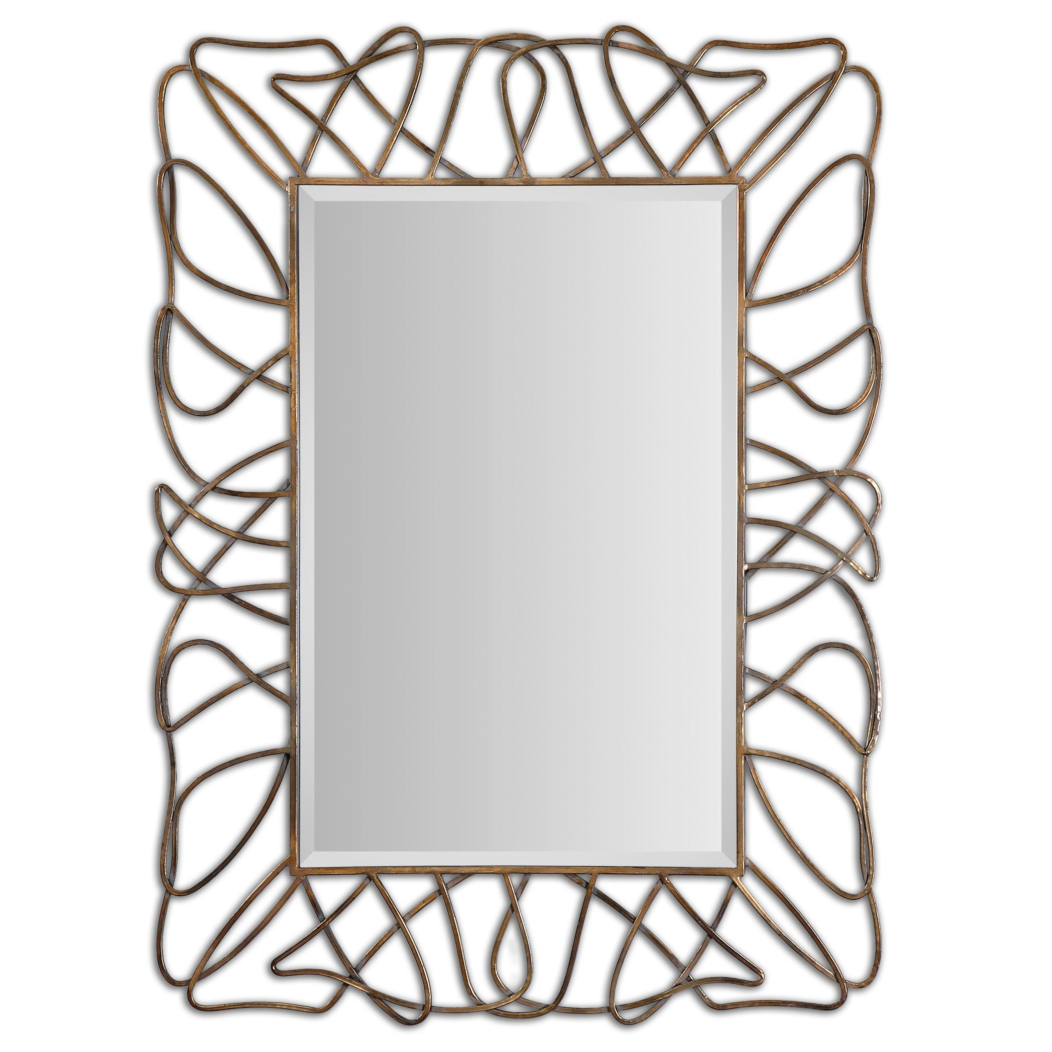 Uttermost Mirrors Halsey Gold Metal Mirror - Item Number: 12878