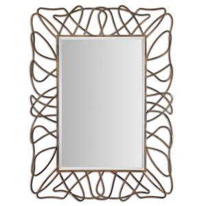 Uttermost Mirrors Halsey Gold Metal Mirror